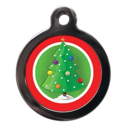 Christmas Tree FE21 Festive Christmas Dog ID Tag