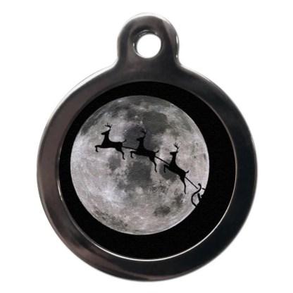 Flying Reindeer FE8 Festive Christmas Dog ID Tag
