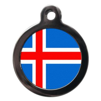 Icelandic Flag FL18 Dog ID Tag