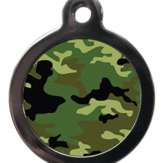 Green Camouflage PA10 Pattern Dog ID Tag