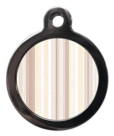 Brown Stripes PA14 Pattern Dog ID Tag