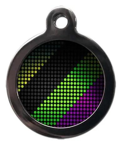 Disco Lights PA29 Pattern Dog ID Tag