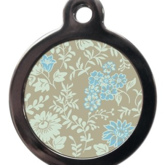 Blue Floral PA30 Pattern Dog ID Tag