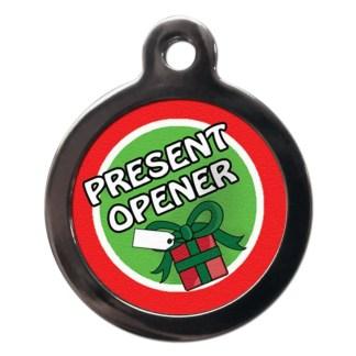 Present Opener FE28 Festive Christmas Dog ID Tag