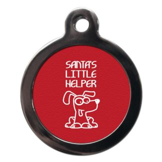 Santa's Little Helper FE17 Festive Christmas Dog ID Tag