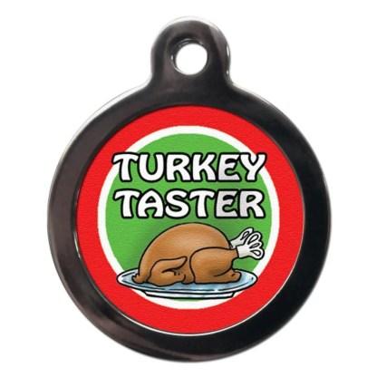 Turkey Taster FE27 Festive Christmas Dog ID Tag