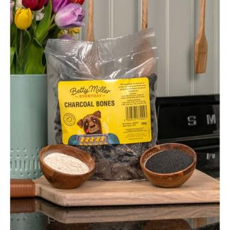 060525770045 Betty Miller Charcoal Bones 500g Biscuit Treats