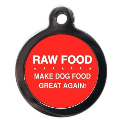 Raw Food CO99 Comic Dog ID Tag
