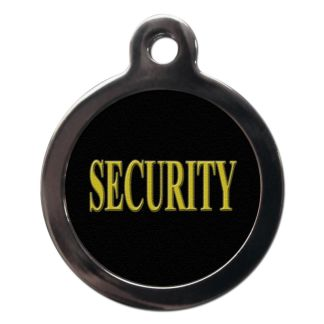 Security CO45 Comic Dog ID Tag