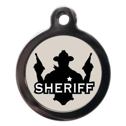 Sheriff CO101 Comic Dog ID Tag