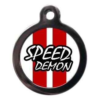 Speed Demon CO77 Comic Dog ID Tag