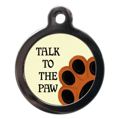 Talk to the Paw CO10 Comic Dog ID Tag