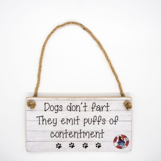 Dogs Don't Fart Wall Plaque DBP03