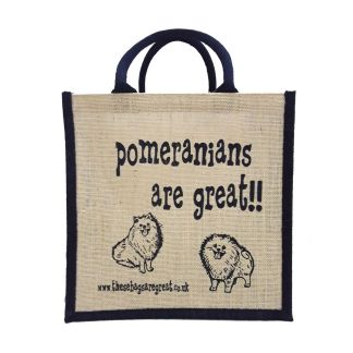 Pomeranians are Great Jute Bag
