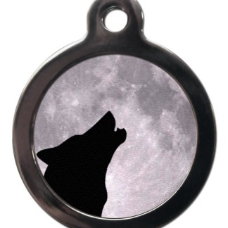 Howling Wolf NA2 Nature Dog ID Tag