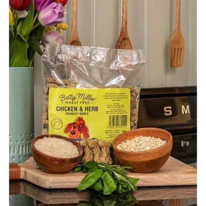 Betty Miller Chicken and Herb Bones 500g Biscuit Treats