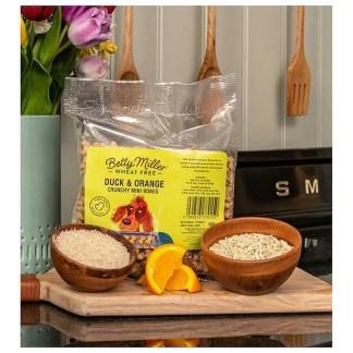 Betty Miller Duck and Orange Mini Bones 500g Biscuit Treats
