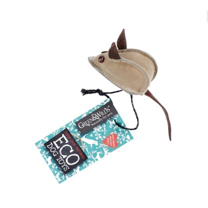 703625145490 Mike the Mouse Jute Eco Dog Toy
