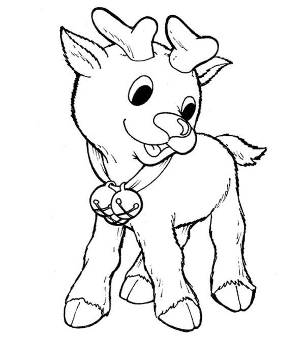 rudolph the red nosed reindeer coloring page # 22