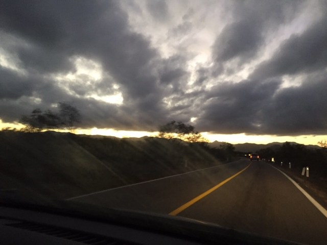 Darkness & 125 mile winds