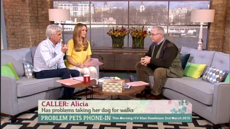 Me on the THis Morning ITV Show March 2015. Taking Calls on Dog Behaviour