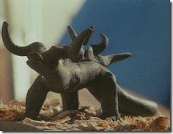 Figurita que representa un desconocido e inclasificable animal