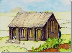 Aspecto que debía tener la primitiva capilla de Glastonbury