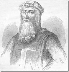 Godefroy de Bouillon, representado aqui ceñido con la corona de  espinas