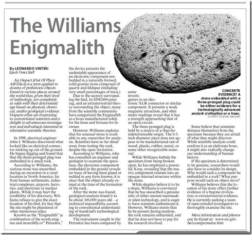 THE WILLIAMS ENIGMALITH