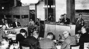 Foto del acto fundacional del Club Bilderberg en 1954