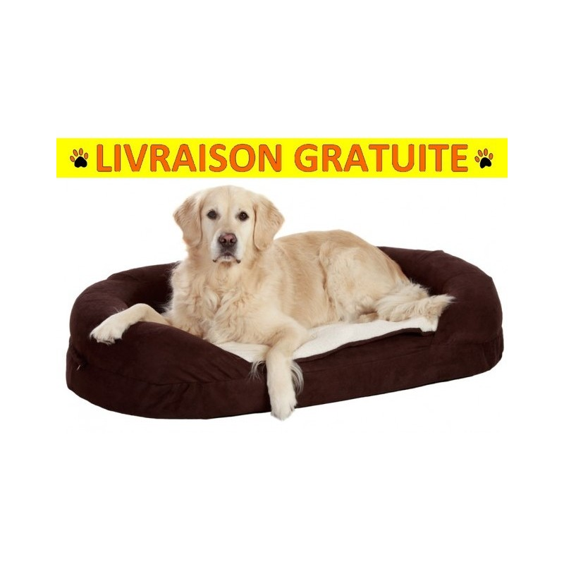 coussin orthopedique chien ovale