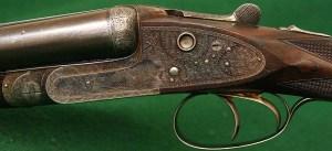 Scott Premier 12g side by side, double barrel shotgun
