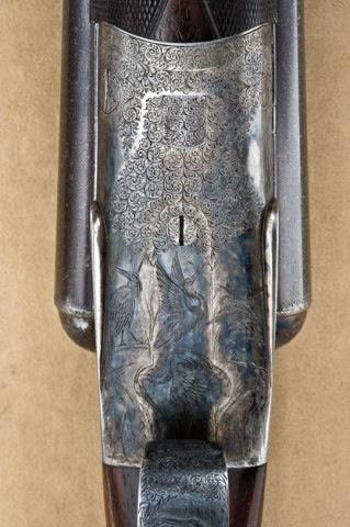 10 gauge W. & C. Scott Premier double barrel shotgun