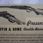 1920s Advertisement for Griffin & Howe Double Rifles