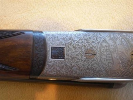 Bernardelli shotgun, showing bottom of action