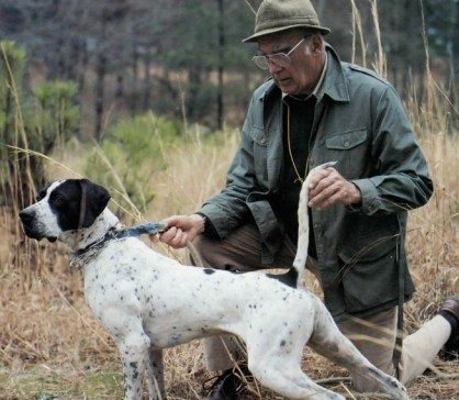 Bob Wehle of Elhew Kennels with one of his Elhew Pointers