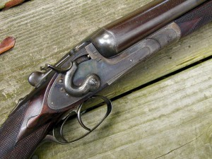 8 gauge W. & C. Scott double barrel shotgun