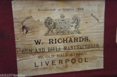 W. Richards double barrel shotgun case on Ebay