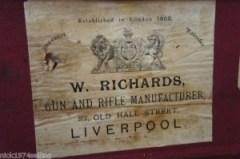 W. Richards double barrel shotgun case on Ebay