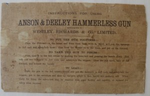 Westley Richards Case Label