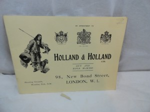 Holland & Holland gunmaker catalog, circa 1920