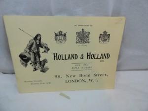 Holland & Holland gunmaker catalog, circa 1920