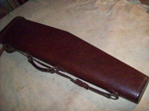 Red Head Leather Leg O'Mutton Shotgun Case