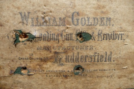 William Golden Gunmaker Case Label