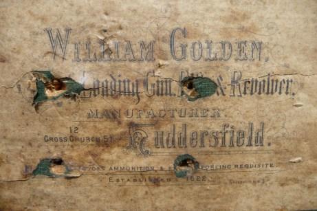 William Golden Gunmaker Case Label