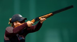 American Takes Gold in Women's Skeet, Setting Records