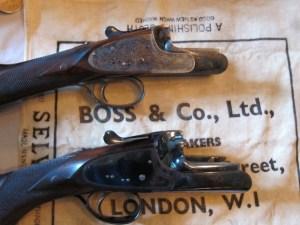 Boss O/Us: shotgun on top, double rifle on bottom