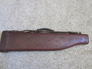 Vintage Red Head Leather Shotgun Case