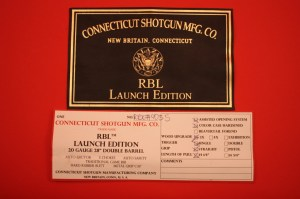 20 gauge Connecticut Shotgun Manufacturing RBL side-by-side shotgun