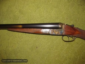 A 4 gauge Belgian side-by-side boxlock shotgun